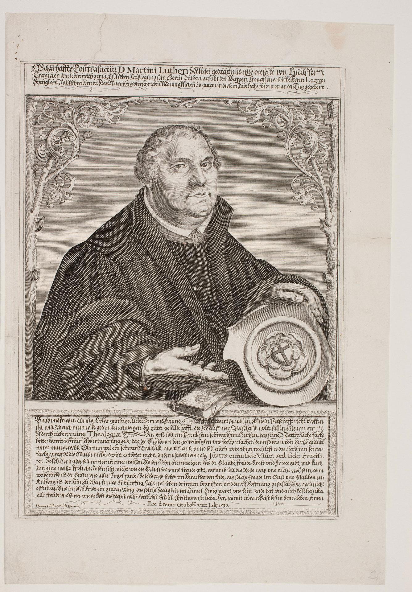 Waarhaffte Contrafactur D. Martini Lutheri