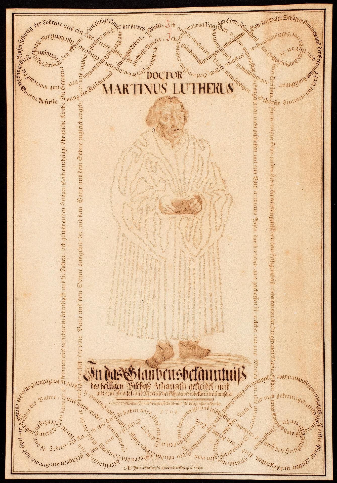 Doctor Martinus Lutherus In das Glaubensbekänntniß des heiligen Bischofs Athanasii gekleidet