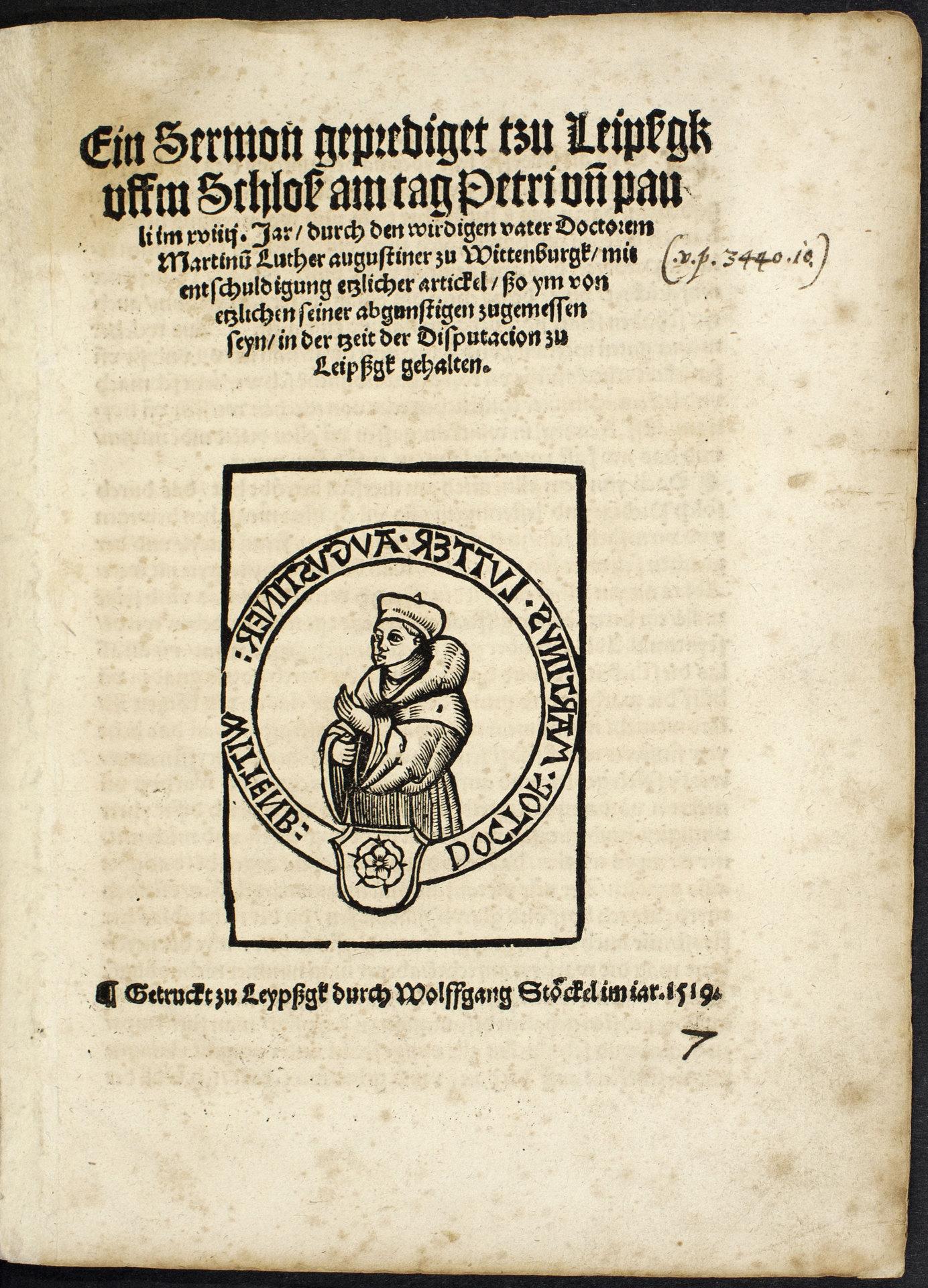 Ein frühes Lutherbildnis
